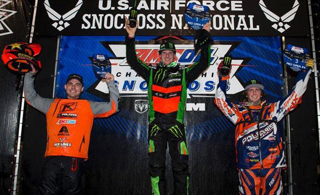 Fargo Snocross Pro Open Podium