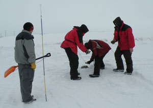 Avalanche awareness training is included in Rocky Mountain Power's winter environment training session.