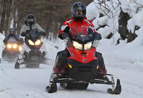 Riding Ontario's snowmoible trails