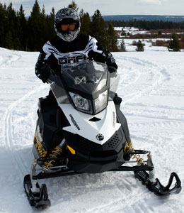 Ski-Doo's aggressive Freeride model makes the news now, but the new 600cc four-stroke may power Ski-Doo's future.