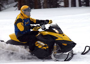 Being light and nimble with great handling makes the Ski-Doo REV TNT a success.