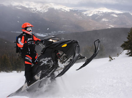 Ski-Doo's mountain series of XP chassis models is one of the lightest powder sleds available.