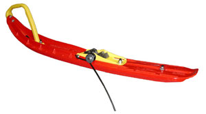 This is an example of a torsion spring scratcher designed for ski mounting. (Image courtesy of Starting Line Products)