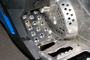 Starting Line Products revised the footrest on the XP for improved handling. (Image courtesy of Starting Line Products)