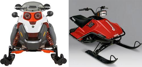 Ski-Doo Freestyle and Yamaha SnoScoot