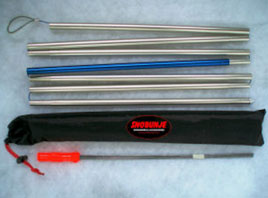 These snow probes fold and won't take up much room in your pack, but can be lifesavers for those trapped in avalanche snow. (Image courtesy of Snobunje)