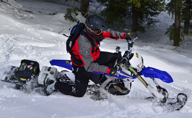 Snow Bike Rider Action Profile