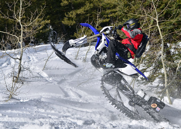 Snow Bike Rider Action