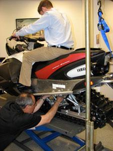 Setting up snowmobile air shocks