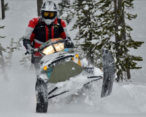 Snowmobile Gear Testing