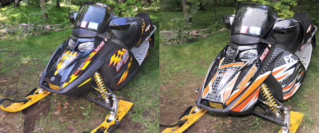 Snowmobile Graphics - Before and After