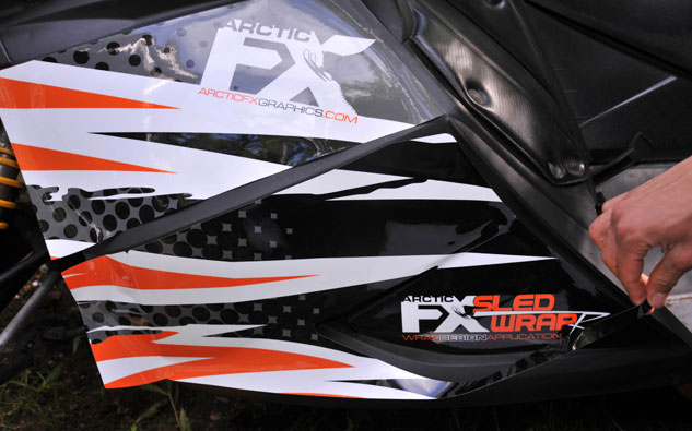 Snowmobile Graphics Cowl Line