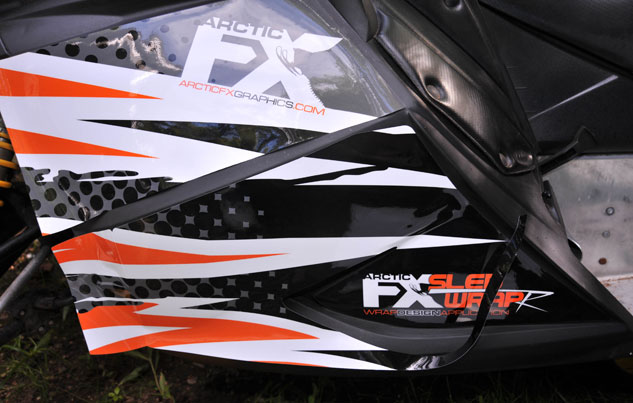 Snowmobile Graphics Installation