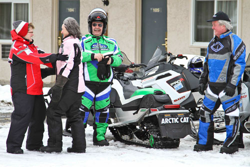 It's easy to go snowmobiling in Ontario
