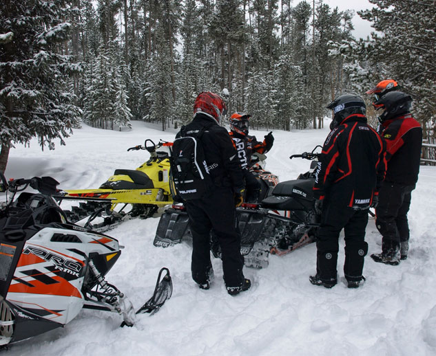 Snowmobile Group Ride