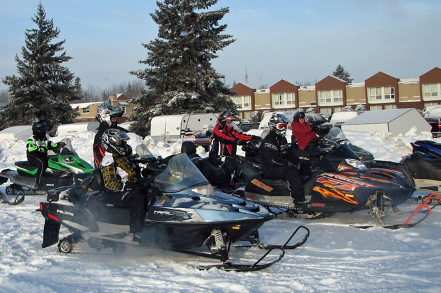 Snowmobile Parking Lot