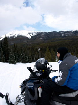 Snowmobile Ride Break