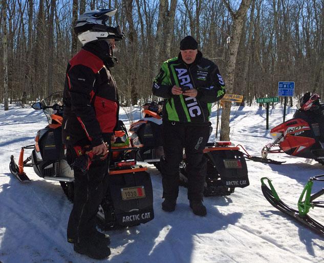 Snowmobile Trail Stop