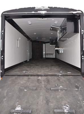 Snowmobile Trailer Rear Loading Door