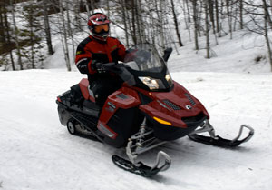 Sport-Touring Snowmobile Rider