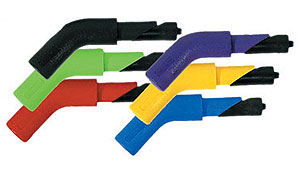 Sportech's nylon end hooks are available in different colors and bends.