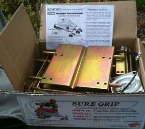 Your Sure Grip Dollies will be shipped in a compact box with al pieces neatly and efficently ready for assembly.