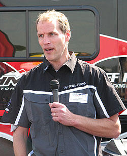 Polaris snowmobile executive Scott Swenson discusses the upcoming sled season.