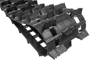 The Challenger Extreme with 3-inch drive pitch is Camoplast's deep snow extreme performance track.