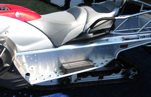 This Yamaha can trace its tapered tunnel back to the 1975 Sno-Jet SST.
