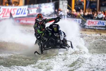 Tucker Hibbert Snocross Action