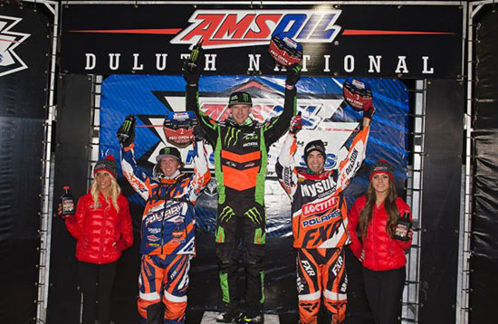 Duluth Snocross National Pro Podium