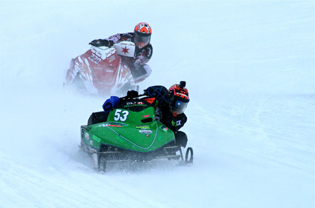 Eagle River Snowmobile Derby Cornering