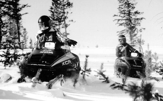 Vintage Polaris Indy Snowmobiles