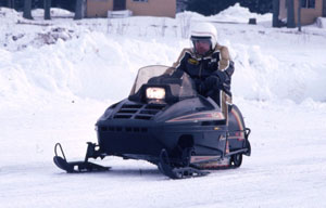 Vintage Polaris Snowmobile