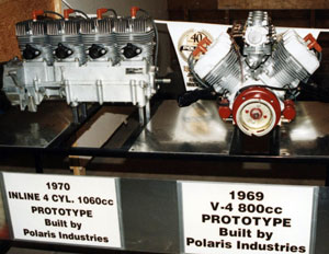 Vintage Polaris Snowmobile Engines