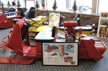 There are more than 60 vintage and antique snowmobiles in the current WSHQ collection.