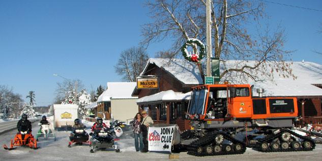 Downtown Wahkon Snowmobiling