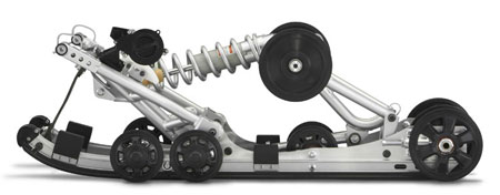 The MonoShock II suspension features needle bearings, larger rear axle, new wheels and stronger rails.