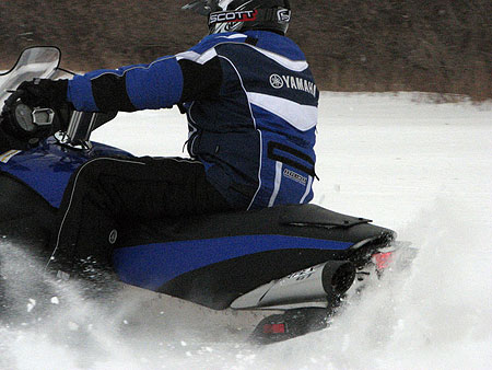 Getting a 'roost' of snow is no problem with Yamaha's all-new Genesis 120 FI power package.