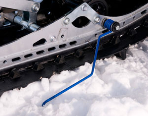 Like Yamaha, most snowmobile manufacturers offer ice scratchers in their accessories collection. (Image courtesy Yamaha Snowmobiles)