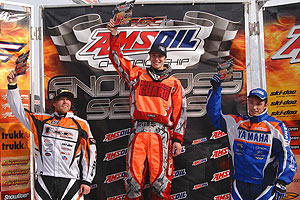 Brett Bender on top of the podium...again.