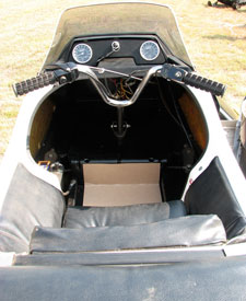 The Raider sit-in snowmobile would be re-invented as the Manta and then its last iteration as the 4-stroke engined Trail Roamer.