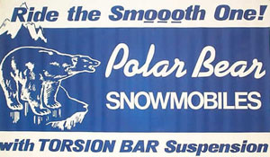 Raybon Manufacturing offered a torsion bar suspension on its Polar Bear snowmobiles.