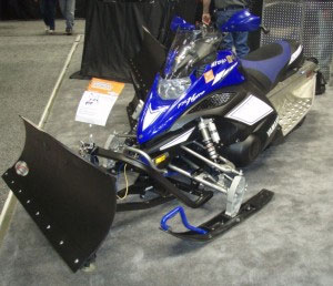 Truly unique is the Cycle Country snowmobile plow for sleds with A-arms.