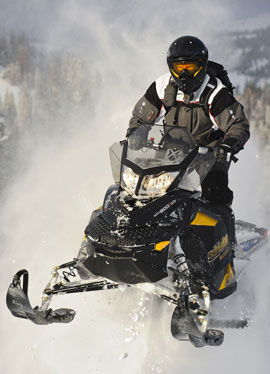 Soar with Ski-Doo�s 151-hp Summit Everest 800.