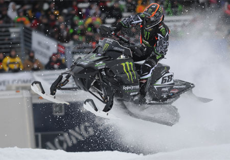 Tucker Hibbert ends his snocross season on a high note. (Photo courtesy Gary Walton)