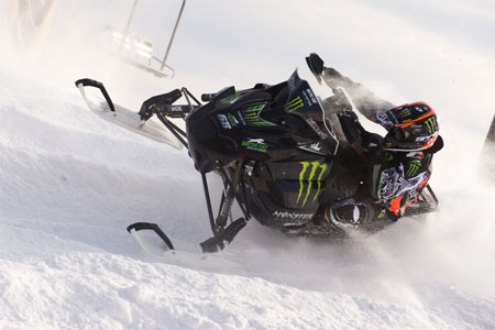 Tucker Hibbert continues to prove that he's the best snocross racer on the planet. (Photo by John Hanson)
