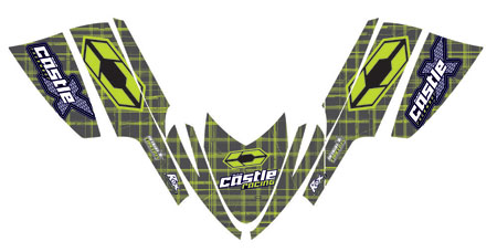 Blown Concepts' Castle Graphics kits feature designs based on the same ones found on Castle clothing so your sled will match your Castle riding gear.