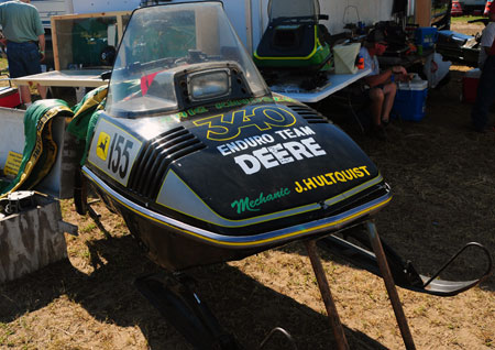 By the time the Liquifire came on the scene John Deere had learned a lot from its racing exploits and made the sled light, durable and fast. They were highly competitive machines on the cross-country circuits.