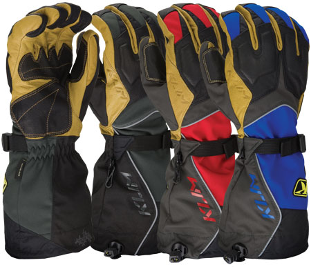 KLIM Summit gloves are available in black, red, and blue.